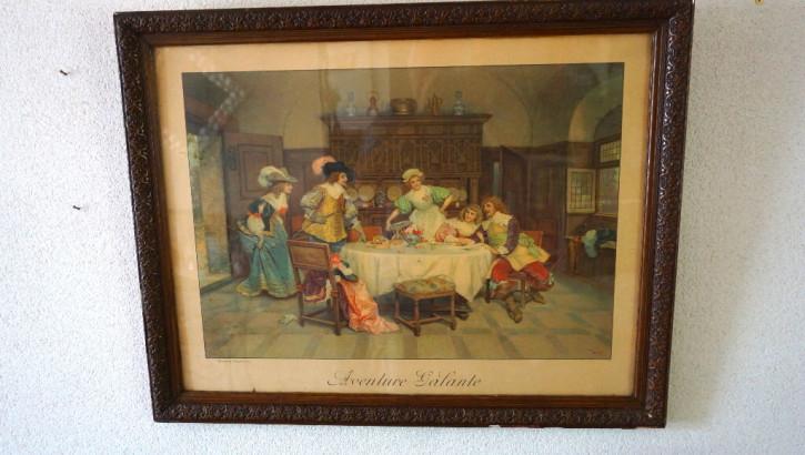 """Antiker Franz. Druck """"Aventure Galante"""" 1911"""