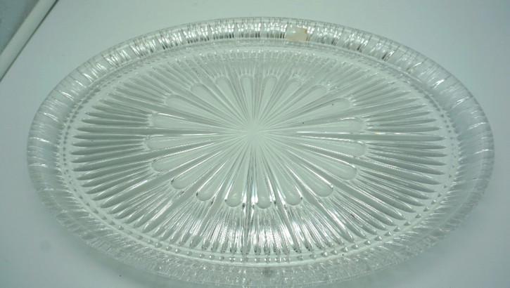 Vintage Tischdekoration Platte mit edlem Glaseinsatz