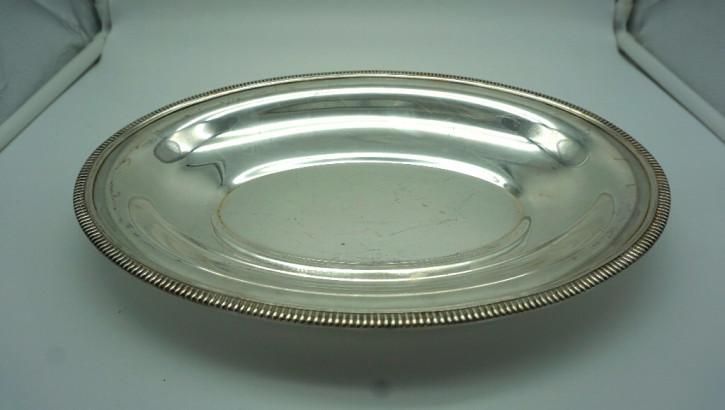 Ovale Tischschale versilbert aus Frankreich