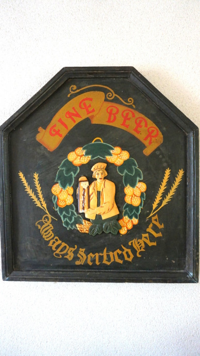 "Pubsign Ölgemälde auf Holz ""Fine Beer"""