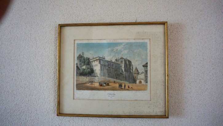 """Bild """"Vue de Savoie"""" Lithog Frankreich Chambery"""
