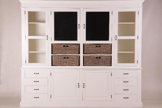 Großer Schrank mit 6 Türen, weiß