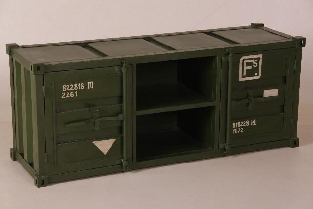 TV Schrank Container grün
