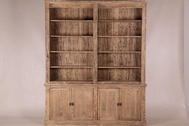 Holz Bücherregal mit 4 Türen