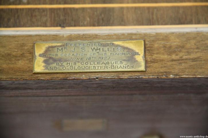 schöne alte Kaminuhr Edwardian