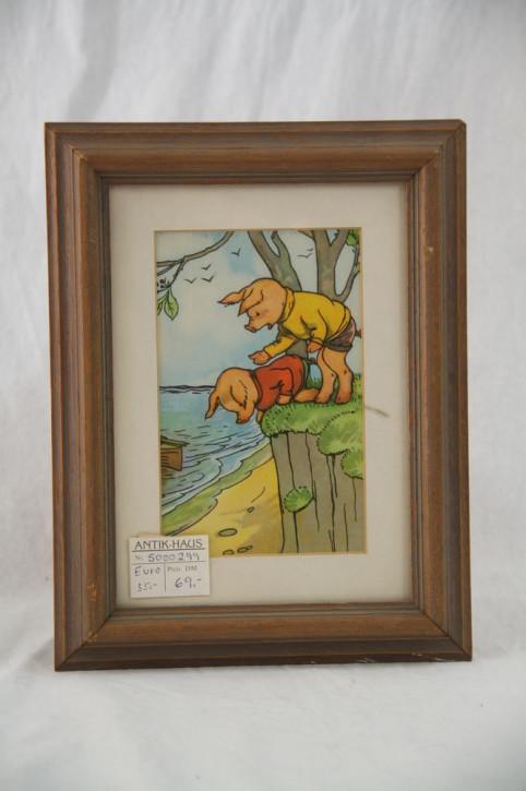 Kinderbild mit Schweinen