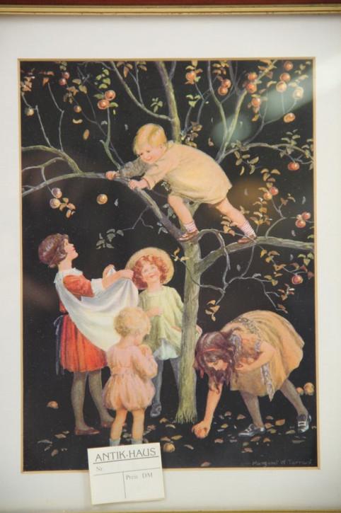 Kinder und Apfelbaum