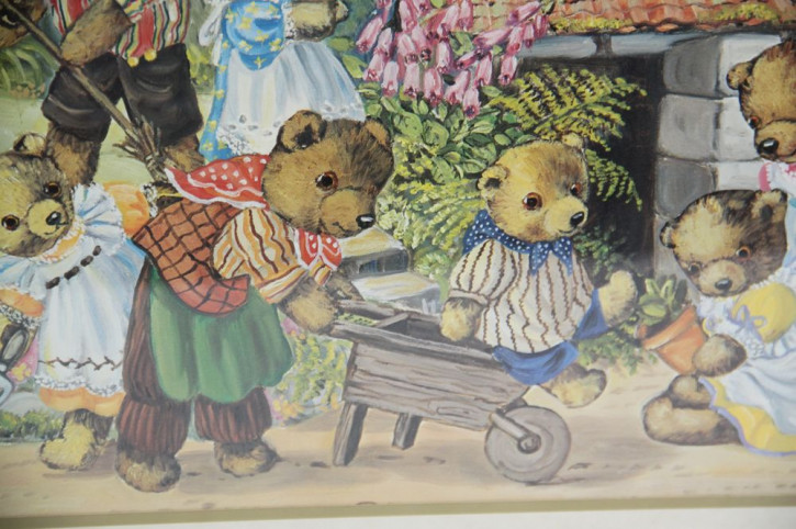 Bild Dekoration Bärenfamilie