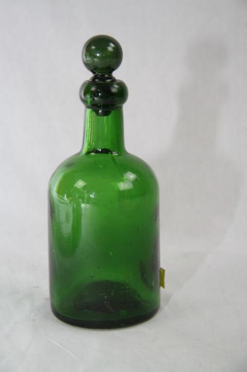 Glasflasche mit Verschluß grün, Victorian