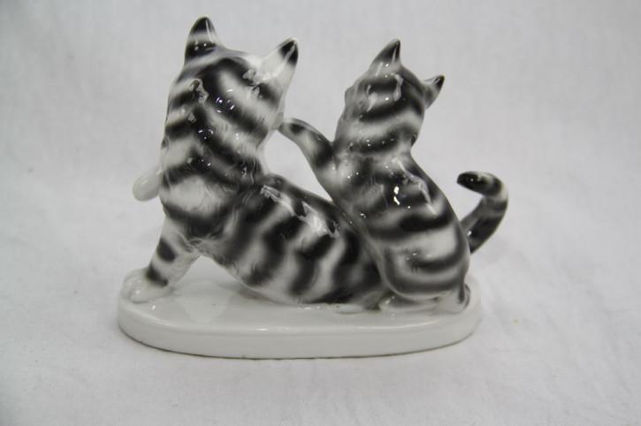 Porzellanfigur Katzen