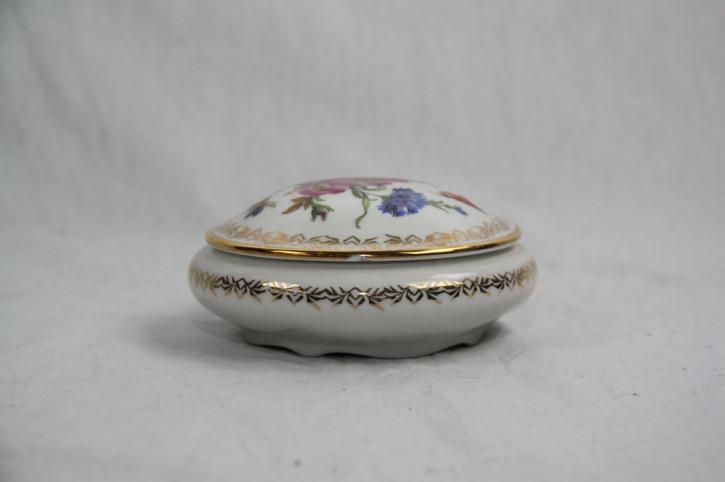 Hübsche Porzellan Dose mit Blumenverzierung