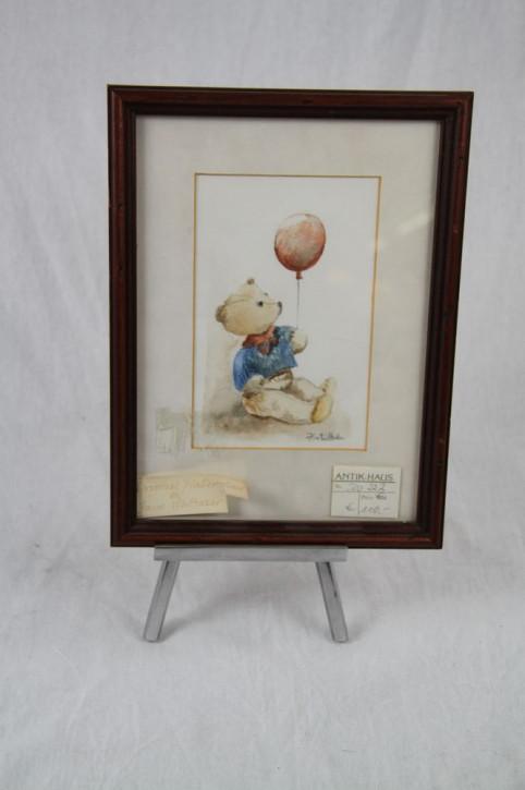 """Bild mit Ständer """"Teddybär"""" von Faye Whittaker"""