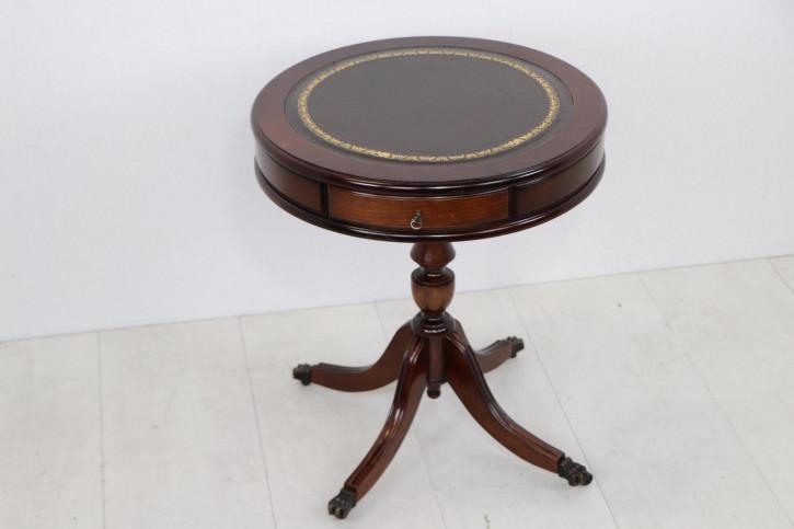 Kleiner Drum Table in Mahagoni, englischer Stil