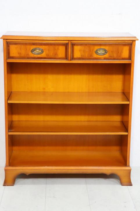 Kleines Heldense Bücherregal / Open Bookcase mit 2 Schubladen, in Eibe