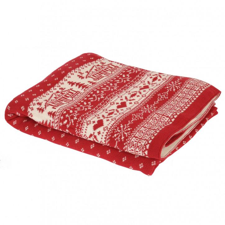 Gemütliche Winterdecke Rot 125*150 cm