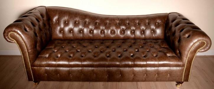 """Tain"" Original Chesterfield Sofa 4-Sitzer englisches Ledersofa"