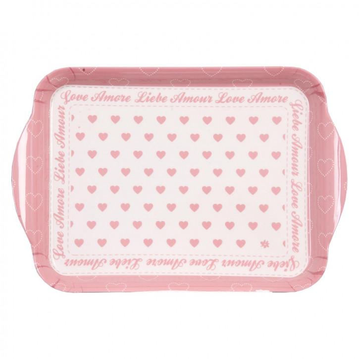 Tablett rosa klein 20*14cm