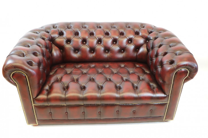 "Chesterfield Sofa ""London Classic"" 3-Sitzer in Birch Antique Red"