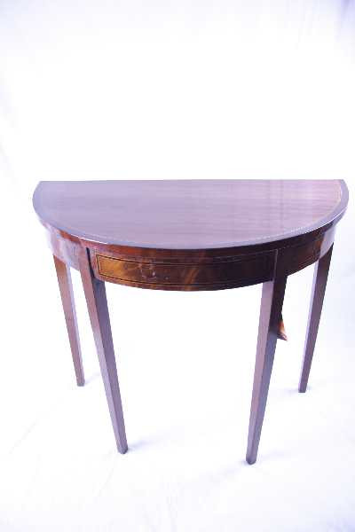 demi lune table  edwardian  1890-1910