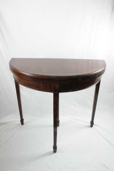 card table demi lune Edwardian 1890-1910 Original