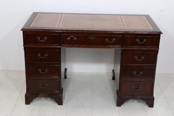 Mahagoni Pedestal Desk, sofort lieferbar