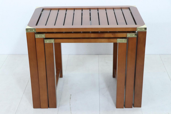 Maritimes Nest of Tables im Military Style in Eibe