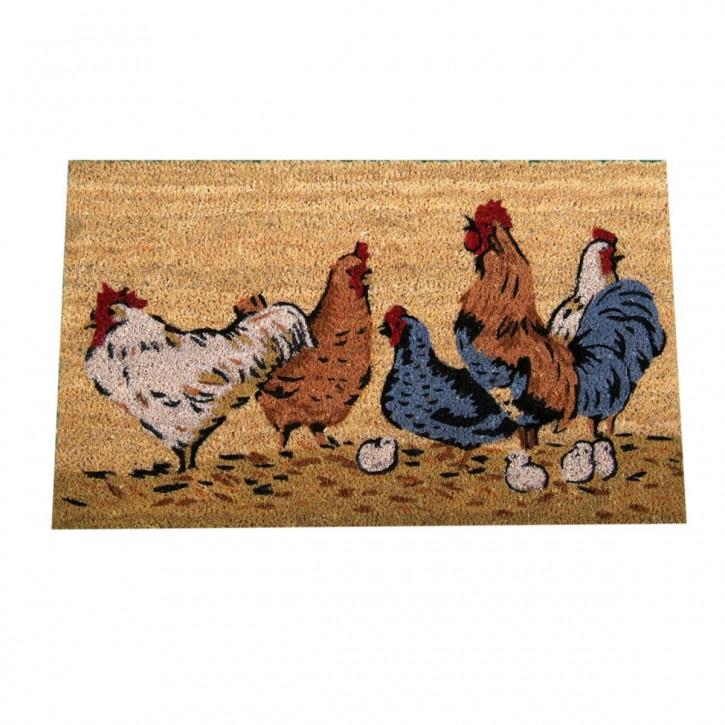 """Fußmatte """"Chicken"""" 75*45cm"""