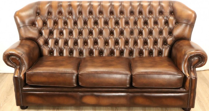 "Chesetrfield Sofa ""Kelso Plain Arm"" 3-Sitzer"
