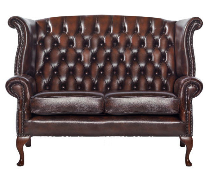 "Chesterfield Sofa ""Scrollwing"" 2-Sitzer"