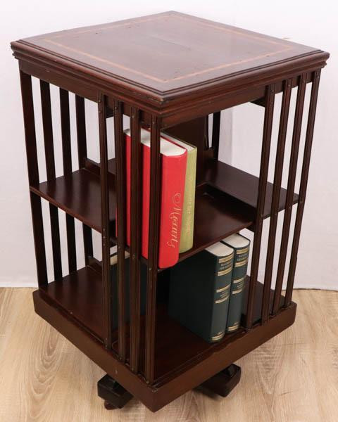 Original antikes Revolving Bookcase / drehbares Bücherregal, Mahagoni, 19. Jahrhundert