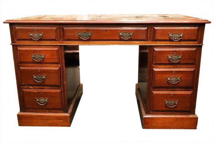"""Originaler """"Pedestal Desk"""" Schreibtisch aus Mahagoni"""