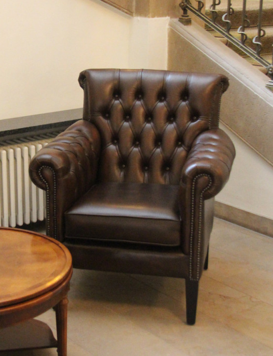 """Preston Club Chair"" Chesterfield Ledersessel"