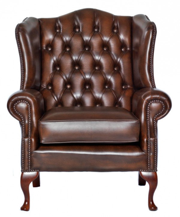 "Chesterfield Ohrensessel ""Queen Anne"""