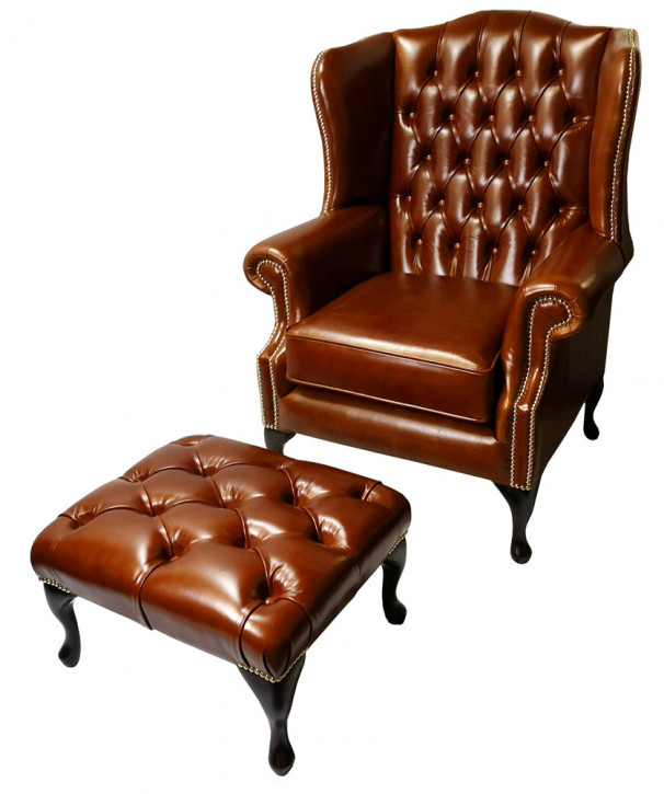"""Queen Anne"" Chesterfield Sessel"