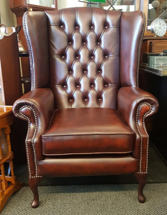"""Grand Queen Anne Chair"" Chesterfield Sessel"