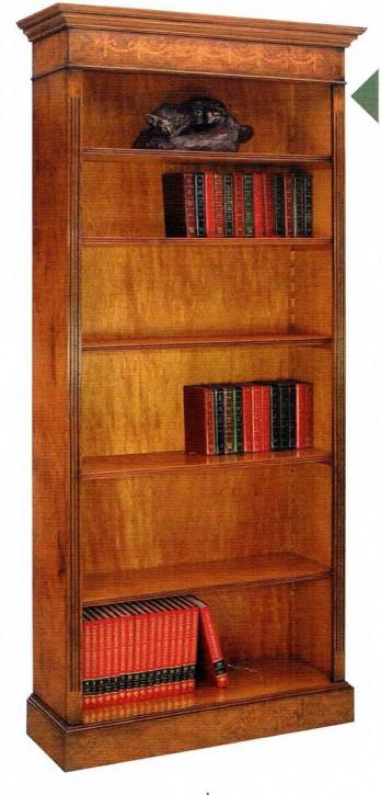 """""""Tall Gothic Bookcase"""" Bücherschrank groß mit 5 Regalböden in Eibe  - auch in Mahagoni"""