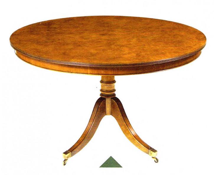 Esstisch rund aus Holz mit Rollen
