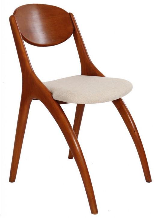 Edler Stuhl im Art Deco Stil Holz Stoff
