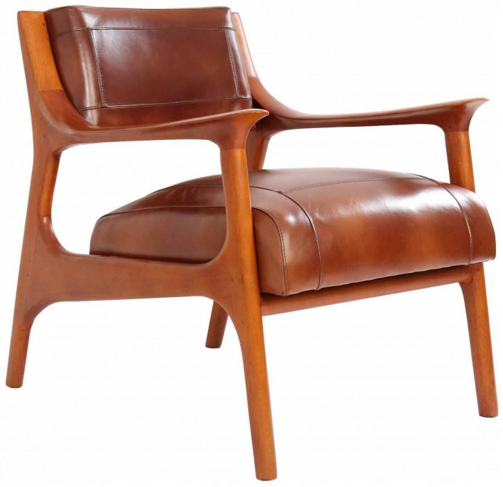 """""""Stockolm"""" Clubsessel Leder Vintage Braun"""
