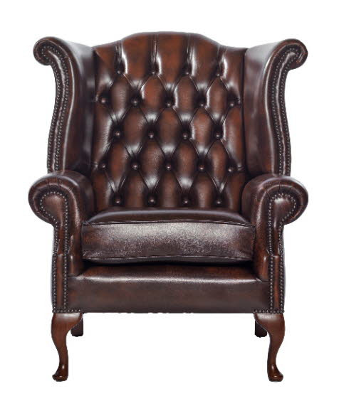 "Chesterfield Ohrensessel ""Scroll Wing Chair"""