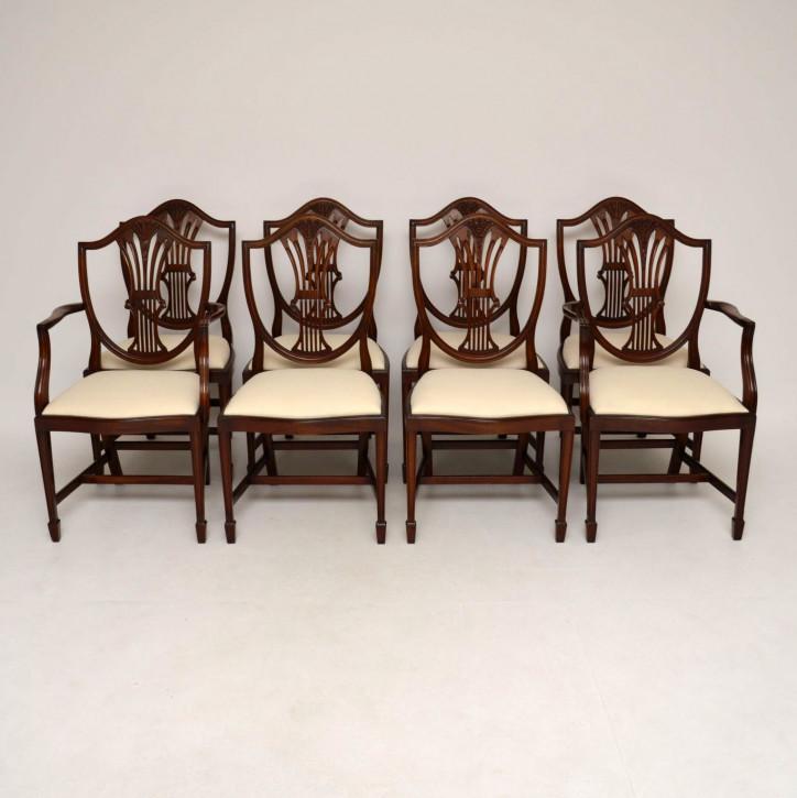 Set von acht Georgean Style Mahagoni Esszimmerstühle
