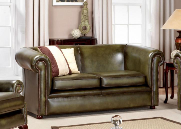 "Chesetrfield Sofa ""Plain Carter"" 2-Sitzer"