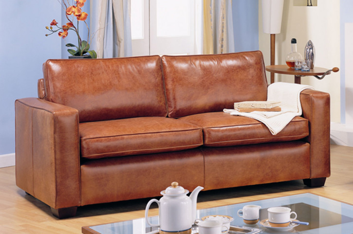 """Harry"" Chesterfield Sofa original 2-Sitzer in Fabric"