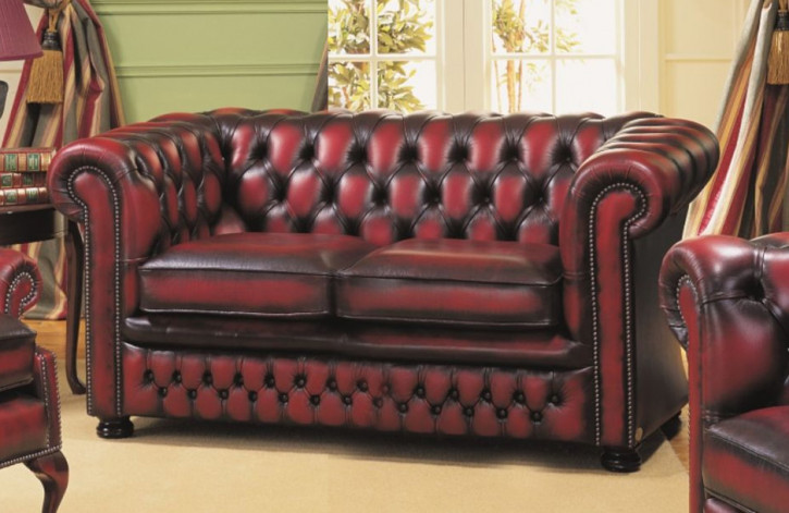 "Chesterfield Sofa ""Nathan"" 2-Sitzer"