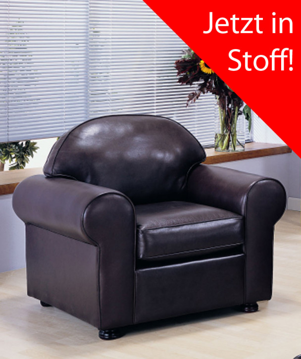 """""""George chair"""" Chesterfield Sessel in Fabric"""