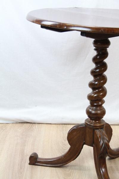 Wine Table Victorian Nussbaum Massiv  Triporttable