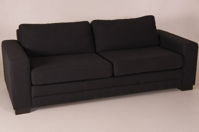 Sofa Amsterdam, 3-Sitzer, Monet schwarz