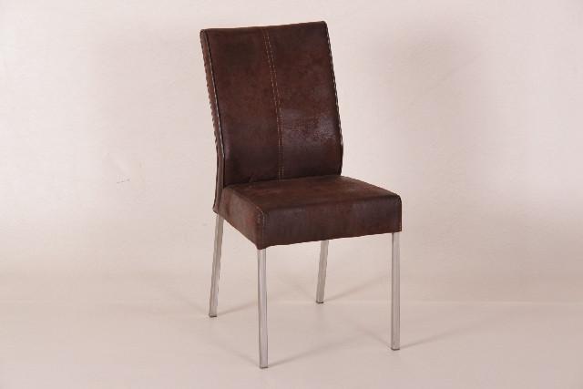 Stuhl mit Mikrofasterbezug