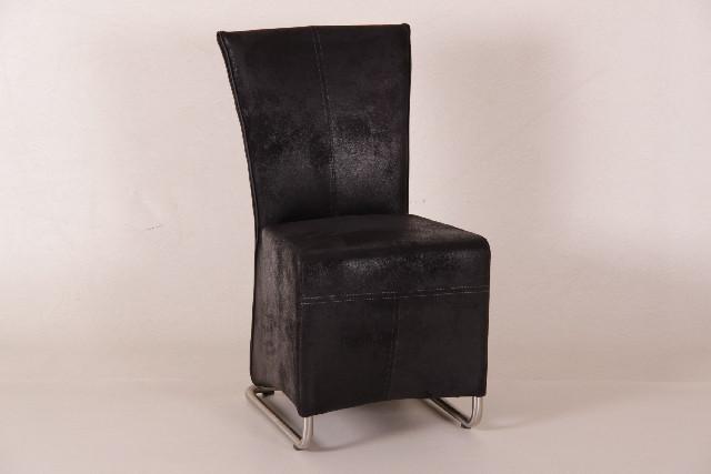 Stuhl Torino, Mikrofaser schwarz