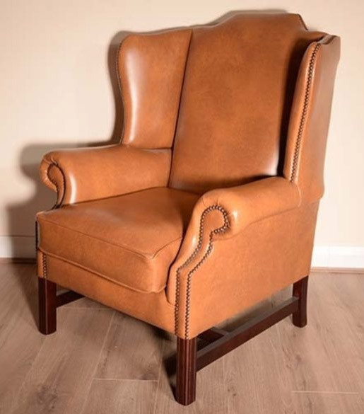 "Chesterfield Ohrensessel ""Suffolk Plainback"""